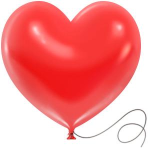 Сердечко шарик