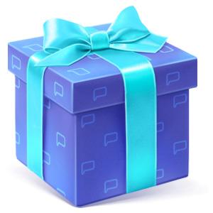 Подарочек коробочка
